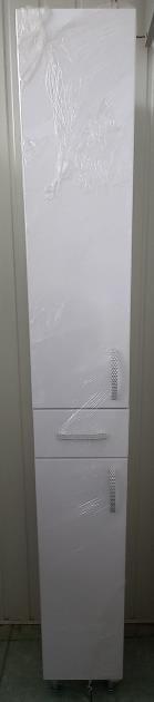 Пенал для ванной 1800х250х280 (выс*шир*гл) белый, дверца левая