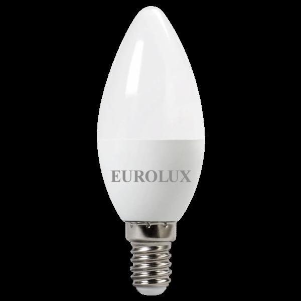 Лампа светодиодная LL-E-C37-7W-230-2,7K-E14 EUROLUX (свеча, 7Вт, теплый свет, Е14)