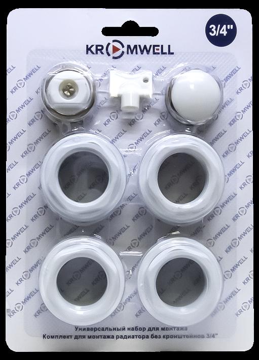"""набор комплектующих для радиатора без кронштейнов 1""""x3/4"""" EU"""