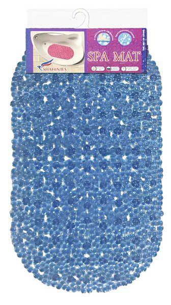 "Shahintex коврик противоскользящий в ванную ""Золушка"" 66*37 синий Турция арт.137094"