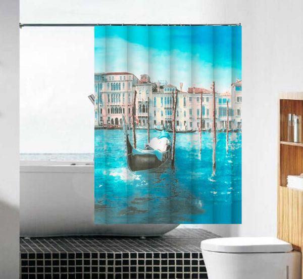 """шторка для ванны тканевая 180*180 см MZ-106 """"Венеция"""""""