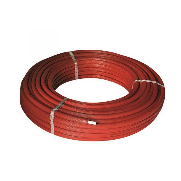 Металлопластиковая труба в изоляции красная UNIDELTA 20*2.0 (бухта 50м)