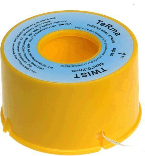 нить для герметизации резьбы тефлоновая 80м*2мм*0,2мм TeRma Twist арт.10038