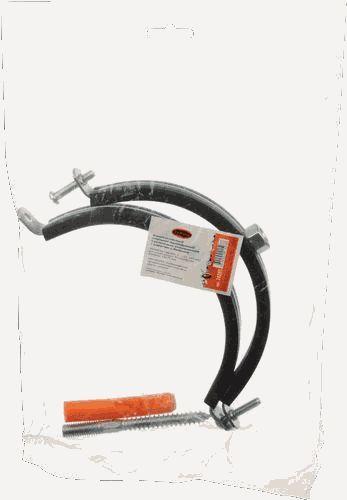 """хомут оцинк. с резиновым уплотн. 4"""" 110-114 М8 со шпилькой-шурупом и дюбелем TeRma 24260"""