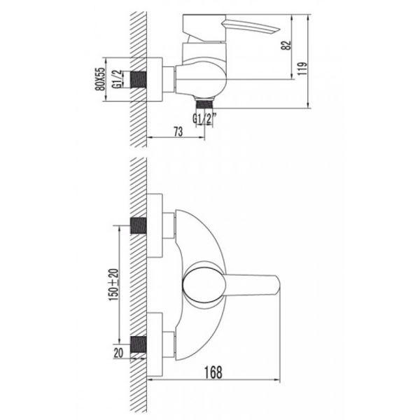 """смеситель ванна LEMARK """"Атлантис"""" LM3203C"""