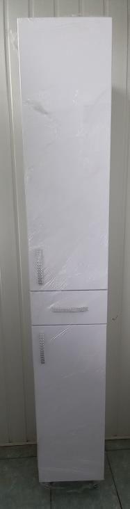 Пенал для ванной 1800х290х280 (выс*шир*гл) белый, дверца правая