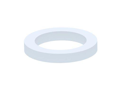 прокладка для смывного бачка 74*94 круглая белая Полимер (для унитаза)