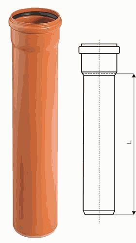 труба наружная ПВХ 110*3,2*1000 Ostendorf (Германия) арт.220010