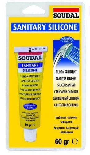 SOUDAL герметик санитарный силиконовый бесцветный 60 гр (блистер, уп 12шт) арт.120034
