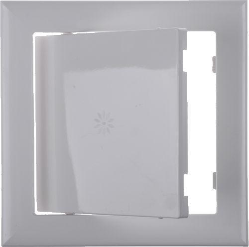 лючок сантехнический пластик белый 150*150 мм
