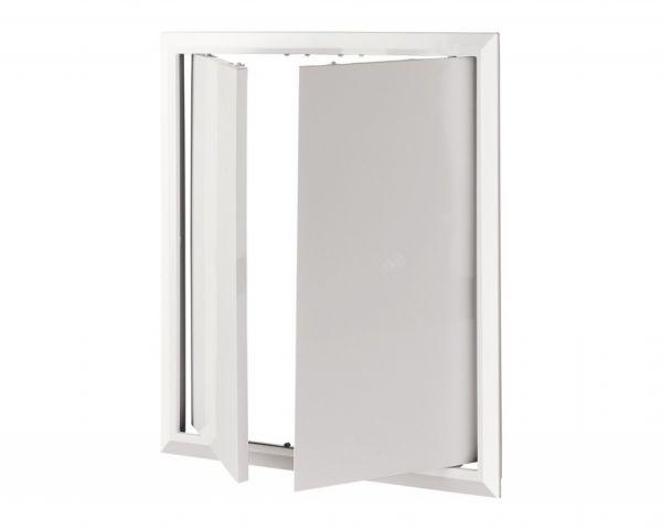 лючок сантехнический пластик белый 400*400 мм 2 дверцы