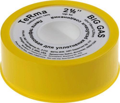 "TERMA лента фум BIG GAS 2.1/2"" 10м*19мм*0.2мм арт.10036"