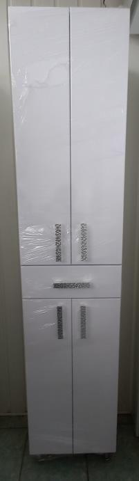 Пенал для ванной 1800х390х280 (выс*шир*гл) белый, 2 двери