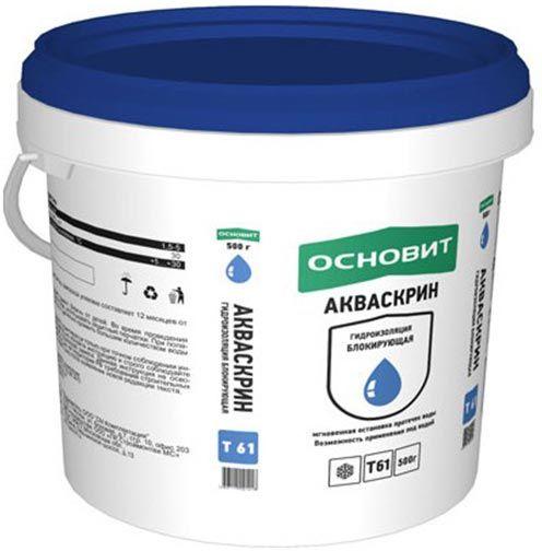 Гидропломба Основит Акваскрин НС61 для остановки протечек (0,5кг)