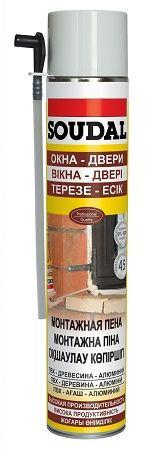 SOUDAL пена монтажная ручная, бытовая YELLOW 500 мл арт.107552