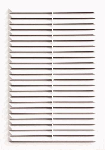 Решетка с москитной сеткой 234*234 2323С ABS пластик белая