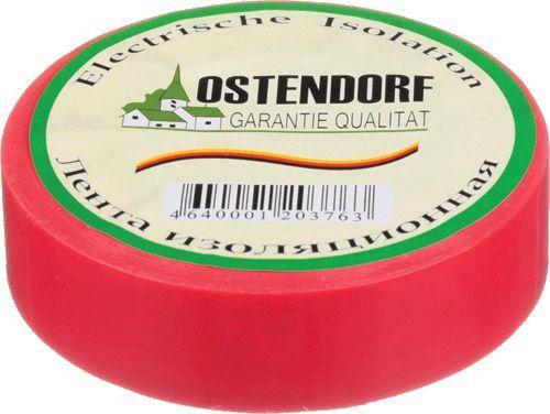 """изолента """"Ostendorf"""" 19мм*20м красная"""