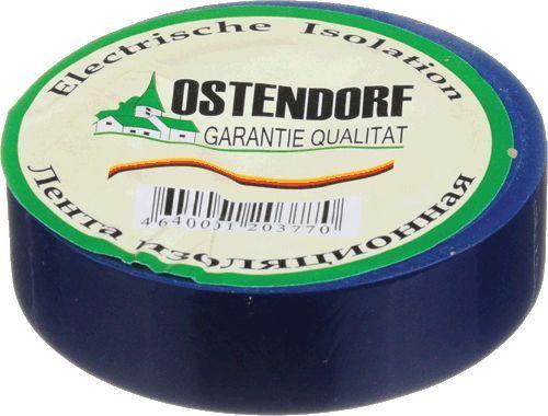 """изолента """"Ostendorf"""" 19мм*20м синяя"""