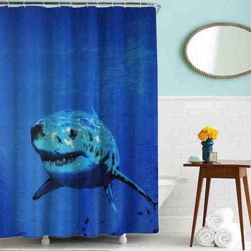 """шторка для ванны тканевая 180*200 см MZ-44 """"Акула"""""""