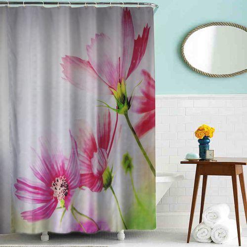 """шторка для ванны тканевая 180*200 см MZ-80 """"Цветы"""""""