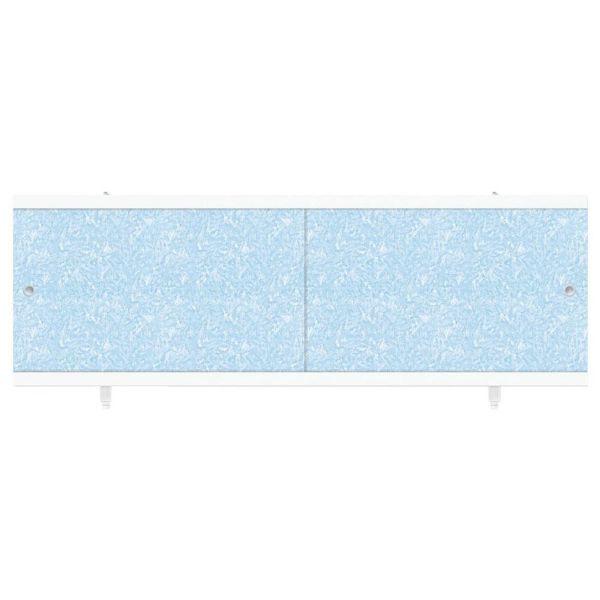 """экран под ванну """"Кварт"""" голубой иней 1,68 м"""
