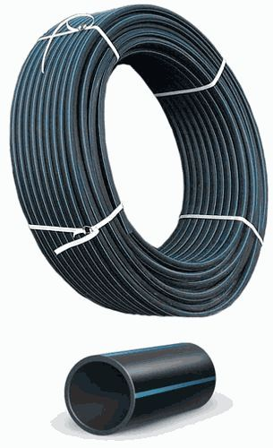 ПНД труба холодная вода 20*2,0 ПЭ-100 SDR 11 (16 атм) синяя полоса (бухта 100м)