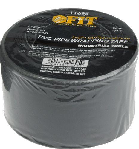 FIT скотч сантехнический PVC 50мм*33м арт.11695 (упаковка 6шт)