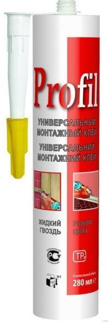 SOUDAL клей монтажный универсальный каучуковый PROFIL (жидкие гвозди) 280 мл арт.131253