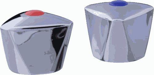 маховик TERMA Люсия пластик квадрат 7*7 короткий, хром арт.20230 (пара)