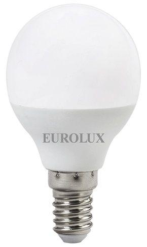 Лампа светодиодная LL-E-C37-7W-230-4K-E14 EUROLUX (шар, 7Вт, нейтральный свет, Е14)