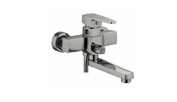"смеситель ванна ""LEDEME"" картридж 35 мм. короткий излив, дивертор в корпусе (L3130)"