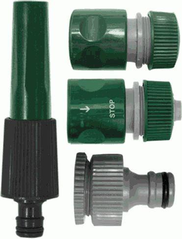 "FIT набор для поливочного шланга 3/4"" пластик 4 предмета арт.77292 (быстросъем)"
