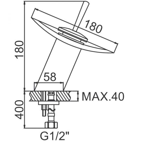 """смеситель тюльпан (умывальник) """"LEDEME"""" прозрачное стекло 16см. (L1055-2)"""
