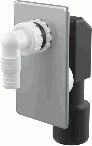 ALCAPLAST сифон для стир. машинки для скрытого в стене монтажа (хром) AРS3