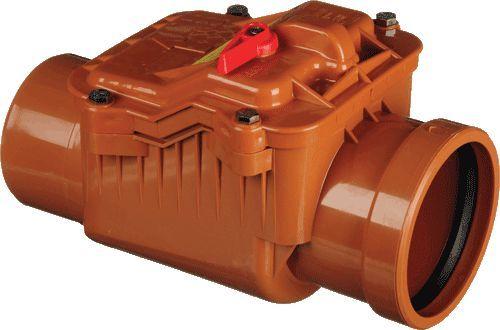 обратный клапан канализационный наружный ПВХ Ду 110 (PESTAN)