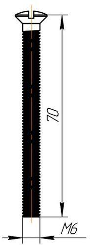 ANI винт для сифонов арт.М6*70
