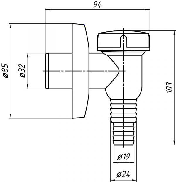 ANI минисифон для стиральной машинки арт.M500