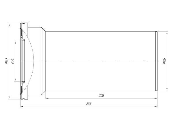 ANI труба фановая для унитаза прямая Ду110/L250 арт.W1220