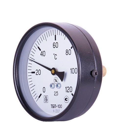 """термометр бимет. ТБ-100  0...120С, д.100, шток L= 50 мм, горизонтальный G 1/2"""""""
