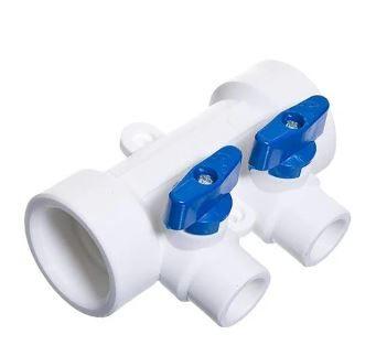 PPRC KALDE коллектор с кранами 2-вых (синяя ручка)