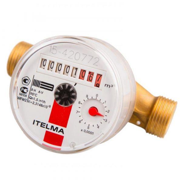Счетчик горячей воды ITELMA (Ду=15мм, L=110мм)