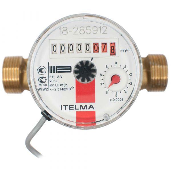 Счетчик горячей воды ITELMA (Ду=15мм, L=110мм) импульсный выход ГЕРКОН