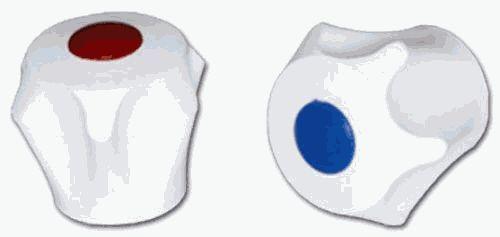маховик пластик белый, короткий N-1 арт.30981215