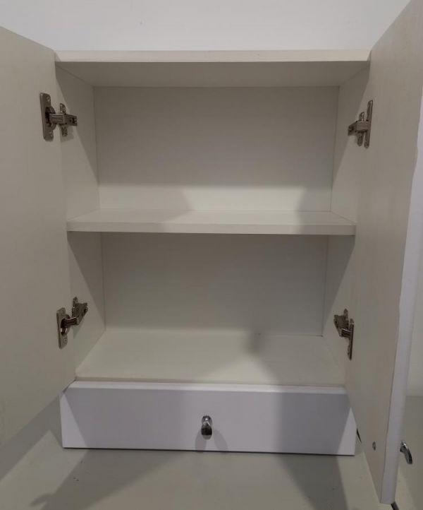 Шкафчик для ванной 670х510х220 (выс*шир*гл) 1 полка, ящик, белый