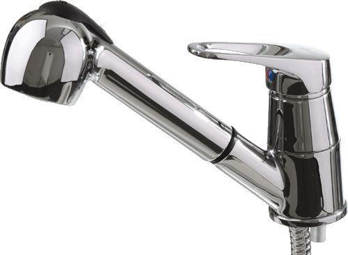 """смеситель кухня (парикмахерская) """"LEDEME"""" картридж 35 мм. с выдвижной лейкой (L6013)"""