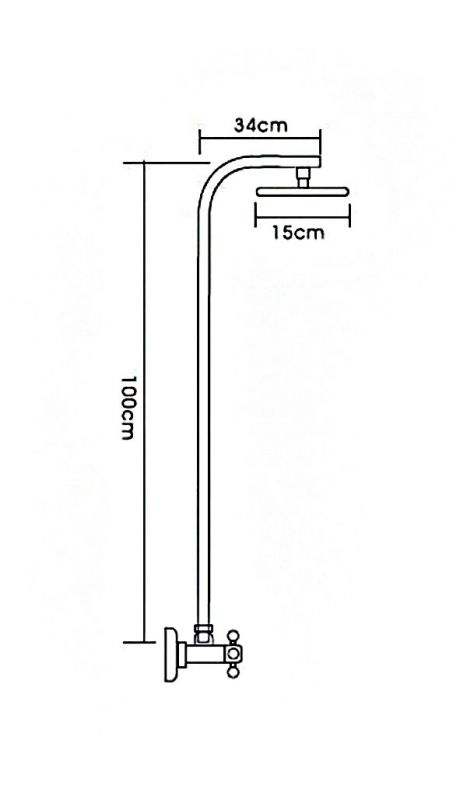 """смеситель стационарный """"LEDEME""""1/2"""" крест керамика, тропический душ (L2408)"""
