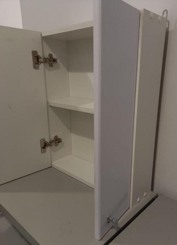 Шкафчик для ванной с зеркалом 550х450х150 (выс*шир*гл) 1 полка, 2 дверцы, дверца правая, белый